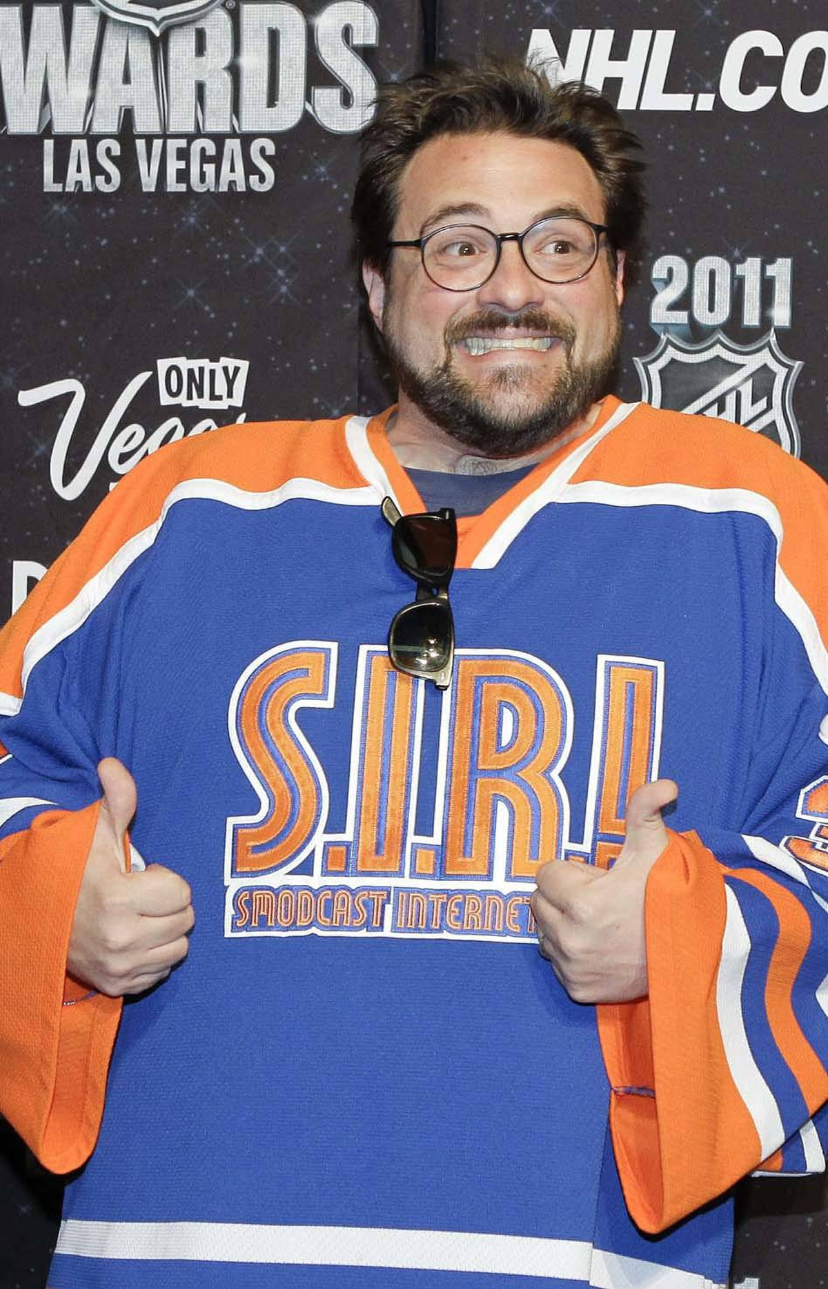 Kevin Smith is photographed on the red carpet at the 2011 NHL Awards, Wednesday, June 22, 2011, in Las Vegas.