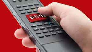 This file photo provided by Netflix Inc., shows a representation of the Netflix one-click remote available on many consumer electronics devices is shown.