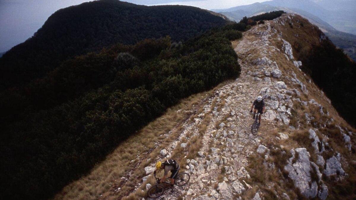 Riding the trails of the Ucka Massif, Croatia
