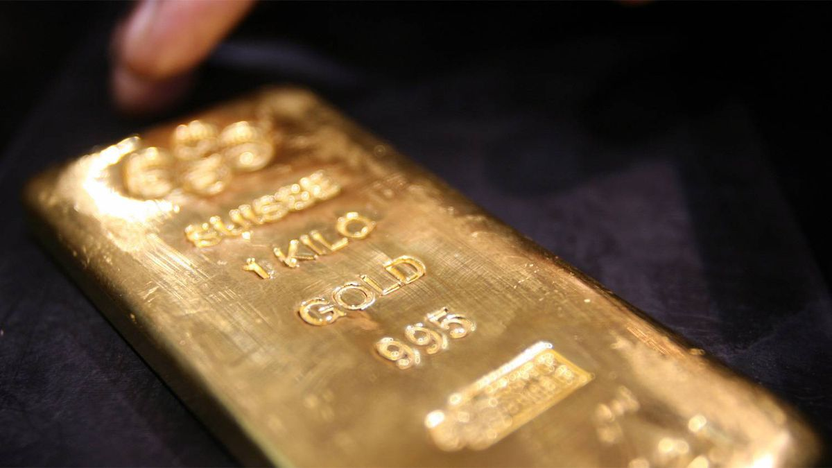 A one kilogram gold bar is seen here in a store in Dubai.