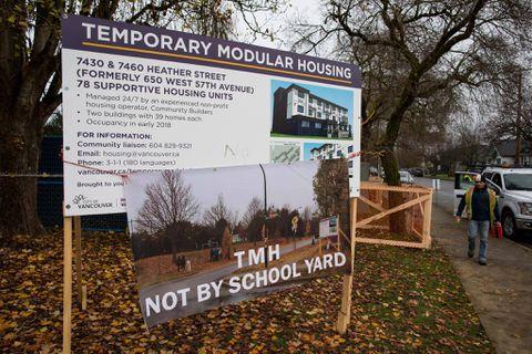 Vancouver residents push back against modular-housing development for homeless