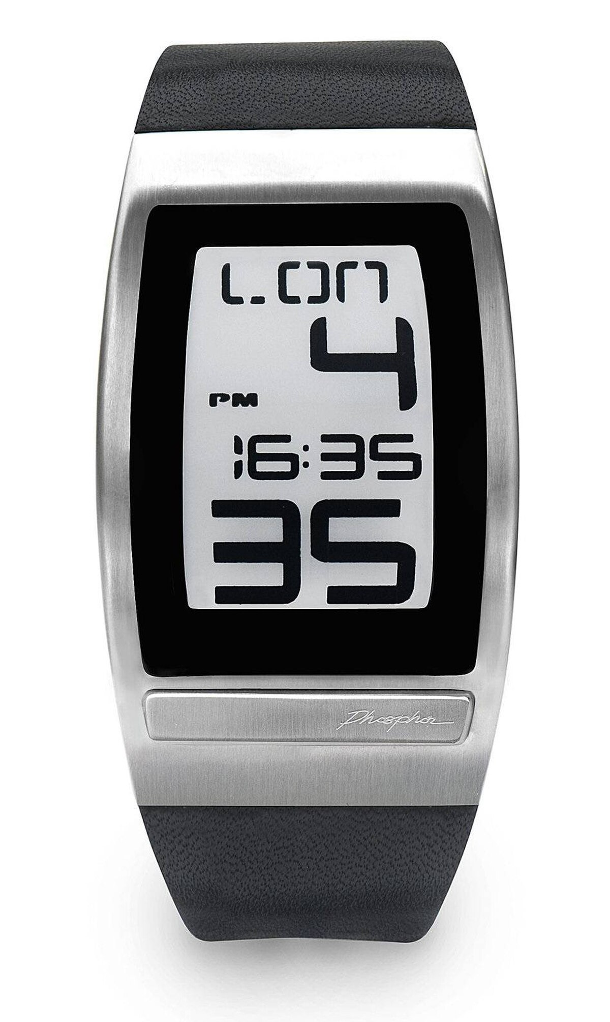 Time zone savvy When you're moving from one time zone to another, it's easy to lose track of time. Need to know when it's too late to call home? Or when your co-workers are at the office to take your call? With dual time-zone displays, the digital Phosphor World Time Curved E Ink watch will help you stay on time in 24 time zones. Display both at once, or just one (in oversize or small type), use backlighting or go dark, or set it to display both time and calendar. Too bad it comes in a man's size only. $175; watchit.ca.