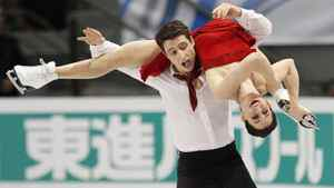 Canada's Tessa Virtue and Scott Moir skate during the ice dance free skate program at the International Skating Union (ISU) Grand Prix of Figure Skating finals at the Pavillon de la Jeunesse in Quebec City December 11, 2011.