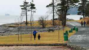 People enjoy ice and snow free trails at Point Pleasant Park in Halifax, Nova Scotia., January 25 , 2012.
