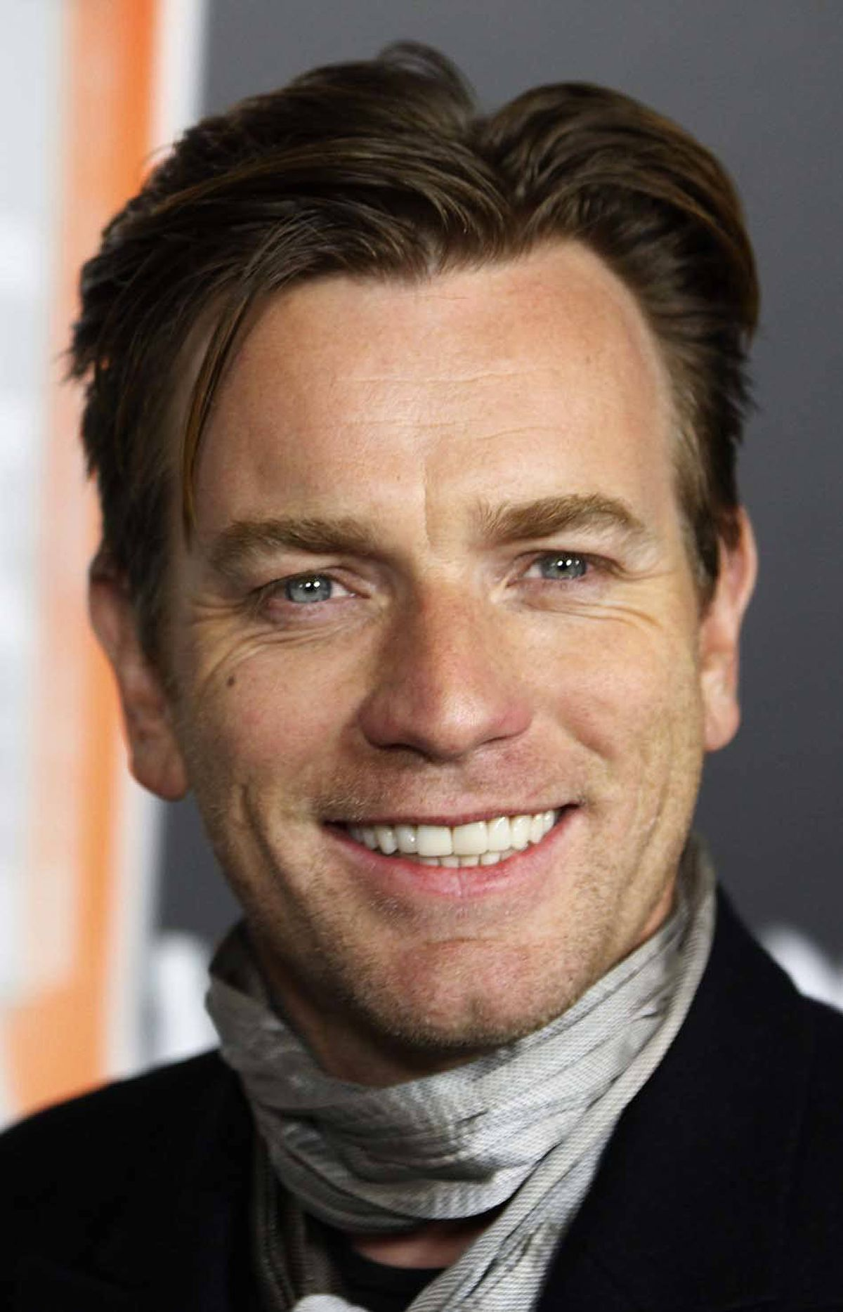 """Ewan McGregor smiles with his chin at the premiere of """"Haywire"""" in Los Angeles last week."""