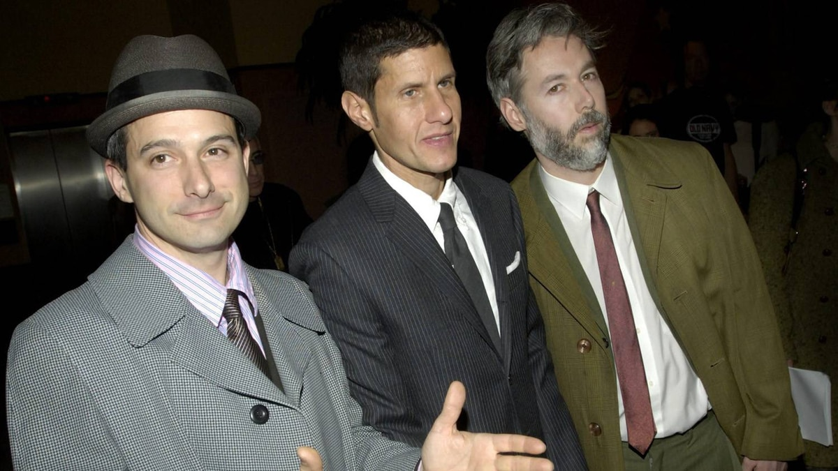 "Members of the Beastie Boys, from left, Adam 'Adrock' Horovitz, Michael 'Mike D' Diamond, and Adam 'MCA' Yauch arrive at the premiere of their new film ""Awesome; I ... Shot That!"" in New York, in 2006. The film, which documents a 2004 Beastie Boys concert at New York's Madison Square Garden, is comprised of footage shot by 50 fans who were given cameras to record the show."
