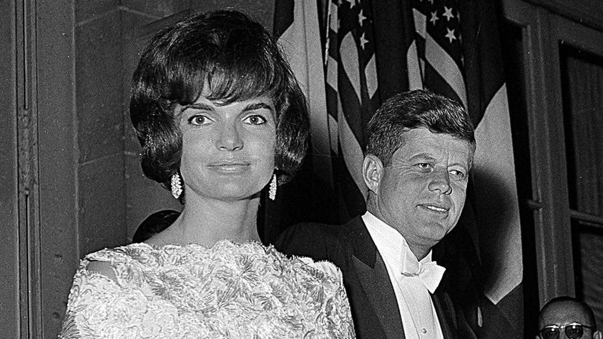 First lady Jacqueline Kennedy and President John F. Kennedy leave the Quai D'Orsay ministry for the Elysee Palace in Paris in 1961.