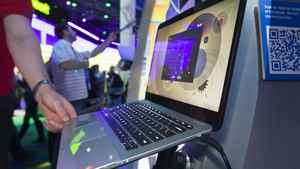 Hewlett-Packard's all-glass-encased Spectre was probably the most eye-catching of the so-called 'Ultrabooks' and drew throngs of onlookers. Intel is hoping the new generation of ultra-thin, instant-on, lightweight laptops – essentially a riposte to Apple's MacBook Air – will safeguard its market share as tablets and smartphones encroach on its traditional personal-computing turf.