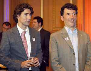Liberal MP Justin Trudeau (Papineau) and NDP MP Paul Dewar (Ottawa Centre) prepare to take the stage.