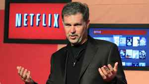 Netflix Chief Executive Officer Reed Hastings speaks during the launch of streaming internet subscription services for movies and television shows to televisions and computers in Canada, at a news conference in Toronto September 22, 2010.