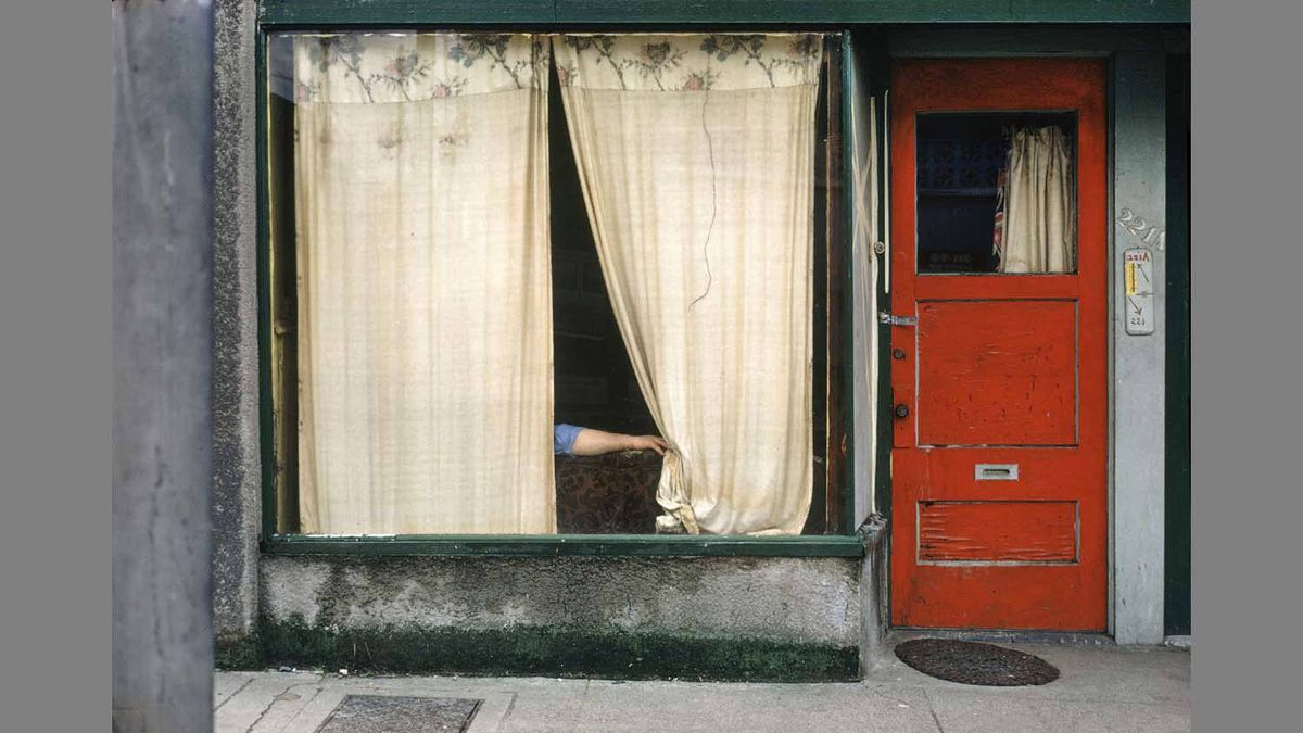 """""""Curtains"""" (1972) by Fred Herzog"""