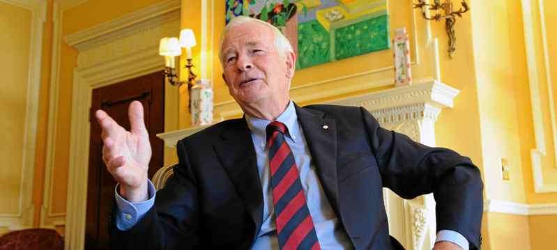 Governor General David Johnston takes part in an interview at Rideau Hall in Ottawa, on August 12, 2011.