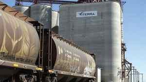 A Viterra grain elevator near Regina.