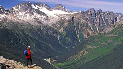 Views of Roger's Pass and some of the park's 400-plus glaciers draw hikers to Abbott Ridge trail.