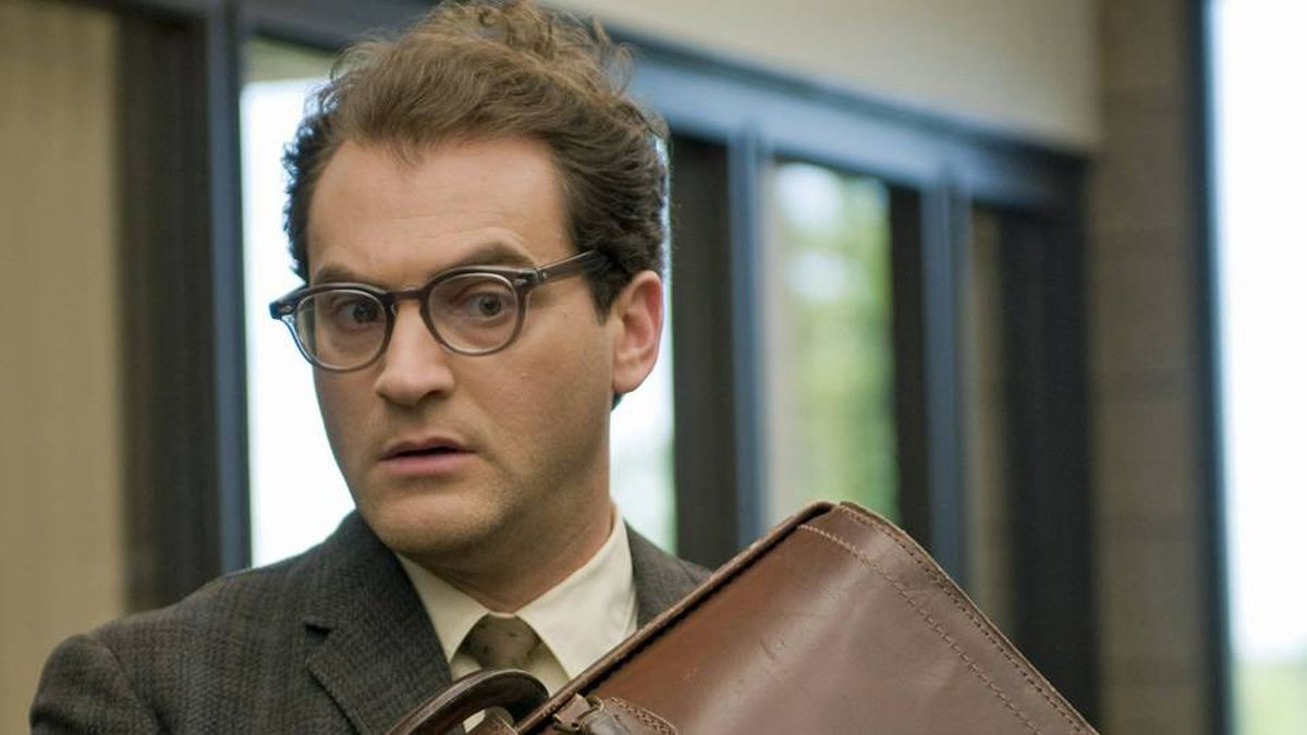 Michael Stuhlbarg, a Broadway actor new to the screen, is almost too credible as Larry, making him so pathetically passive that we root against the nebbish.