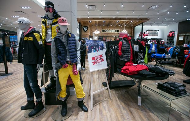 8600e7a759376 It was winter clearance time at Sporting Life in the Yorkdale Plaza in  Toronto last week.