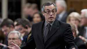 President of the Treasury Board Tony Clement responds to a question during Question Period in the House of Commons in Ottawa, Thursday, May 10, 2012.
