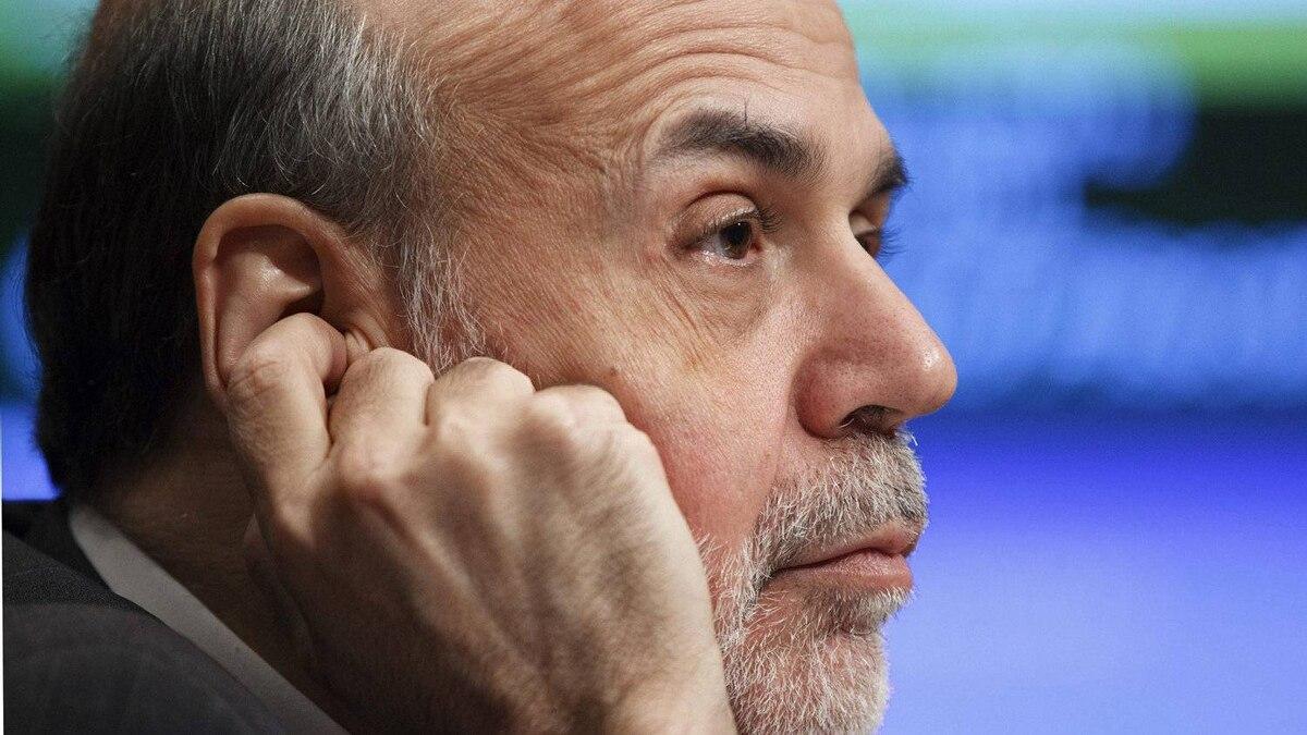 Federal Reserve chairman Ben Bernanke testifies on Capitol Hill on Tuesday.