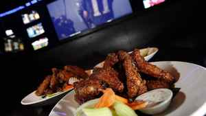 Wings at The Real Sports Bar in Toronto