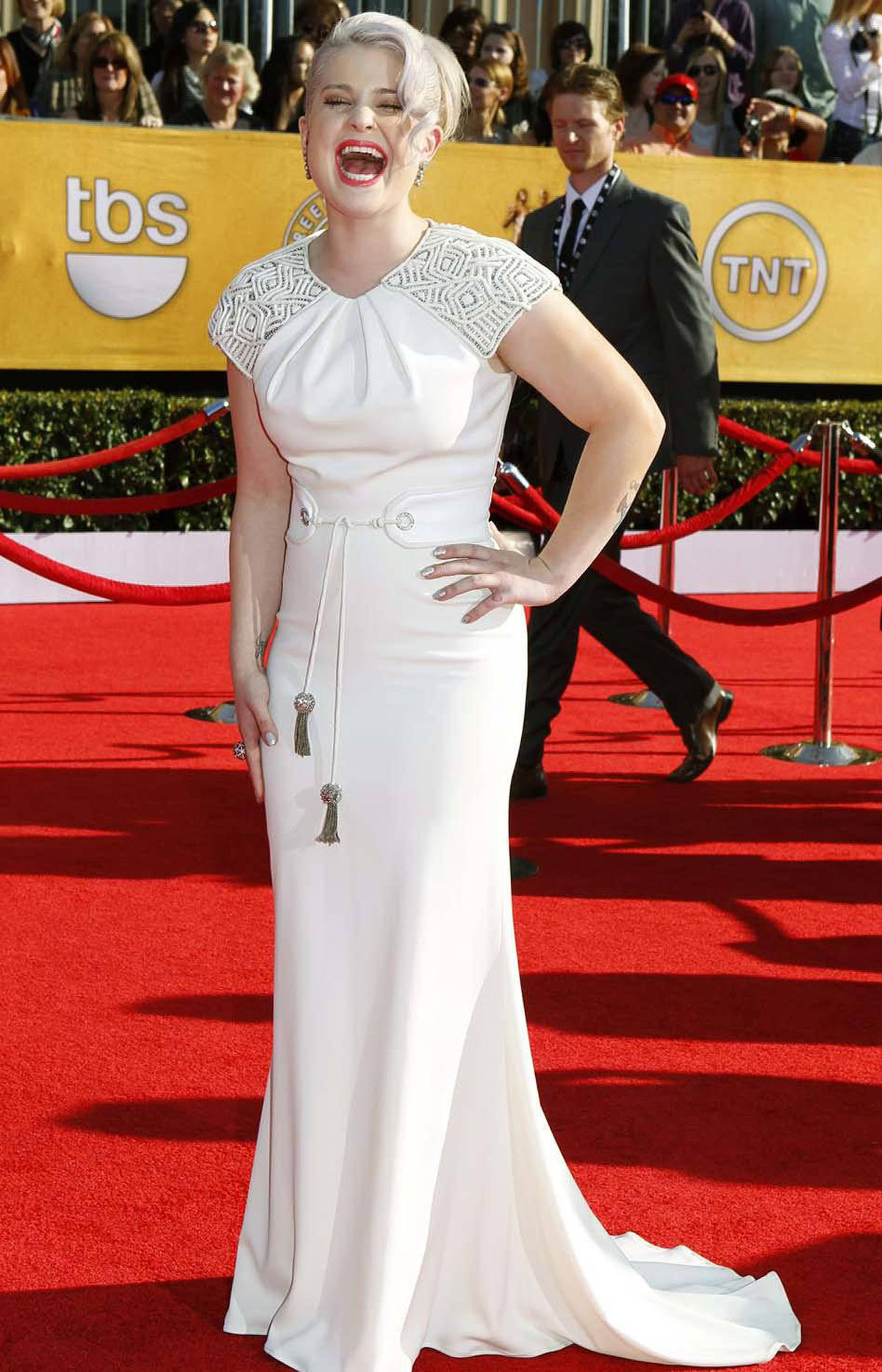 """Ha! I got that!"" says Kelly Osbourne at the SAG awards in Los Angeles on Sunday. ""Do another one!"""