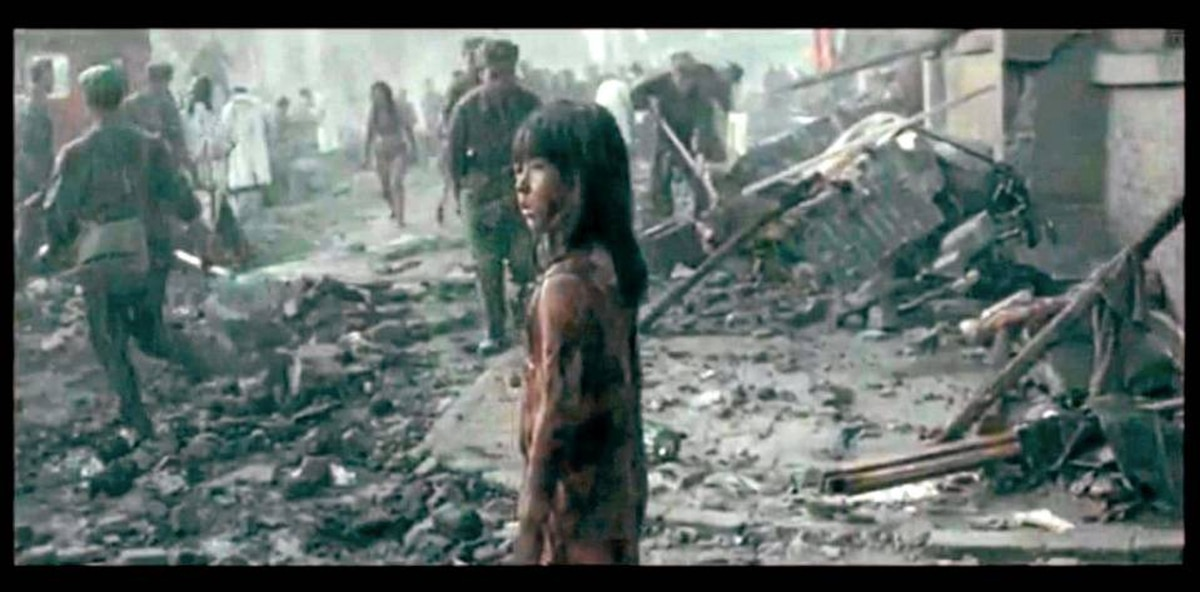 A scene from the Chinese film Aftershocks