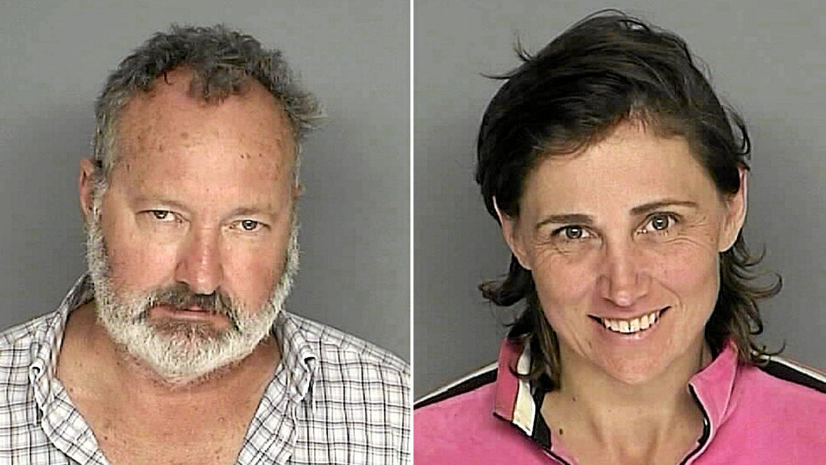 Booking photos from the Santa Barbara County California Sheriff's Department taken Sept. 18, 2010, show actor Randy Quaid and his wife Evi.