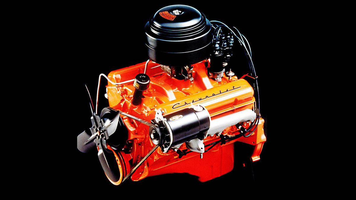 Since it was introduced in 1955, the Chevrolet Small Block has consistently featured a compact, efficient 90-degree V-8 design, with overhead valves, pushrod valvetrain, and 4.4-inch on-center bore spacing.