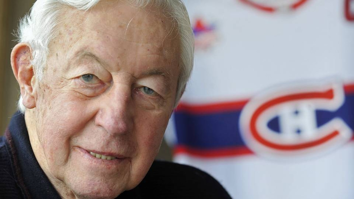 Montreal Canadiens' hockey great Jean Beliveau, is shown during an interview about his career with the Canadiens at his home in St. Lambert, Quebec, Wednesday, Nov., 25, 2009.