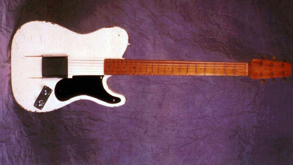 This 1949 prototype of the Fender guitar shows a striking similarity to the models available in later years.