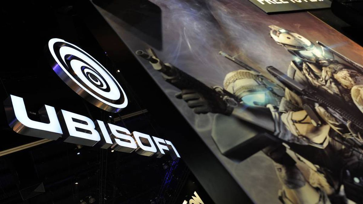 Ubisoft booth at the Electronic Entertainment Expo (E3), in Los Angeles, California, on June 9, 2011.