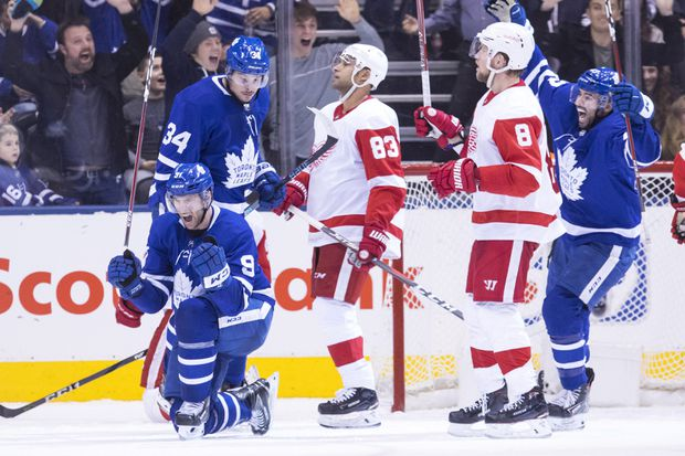 Maple Leafs Make It Four In A Row With Overtime Win Over Red Wings