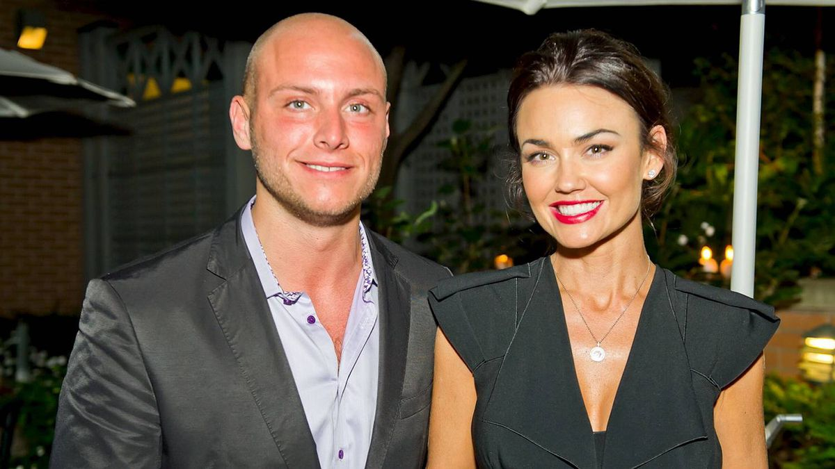 Speaker Kelly Carlson (right) with Ryan Fleishman at the Top Ten event afterparty at Proof.