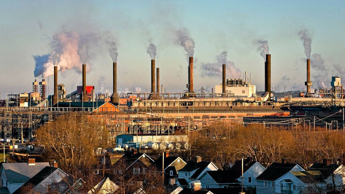 The Rio Tinto-Alcan plant is pictured near a residential area in the Arvida district of Saguenay, 225km North East of Quebec City Wednesday November 10, 2010. A company town, Arvida was planned around the plant so people could walk to it.