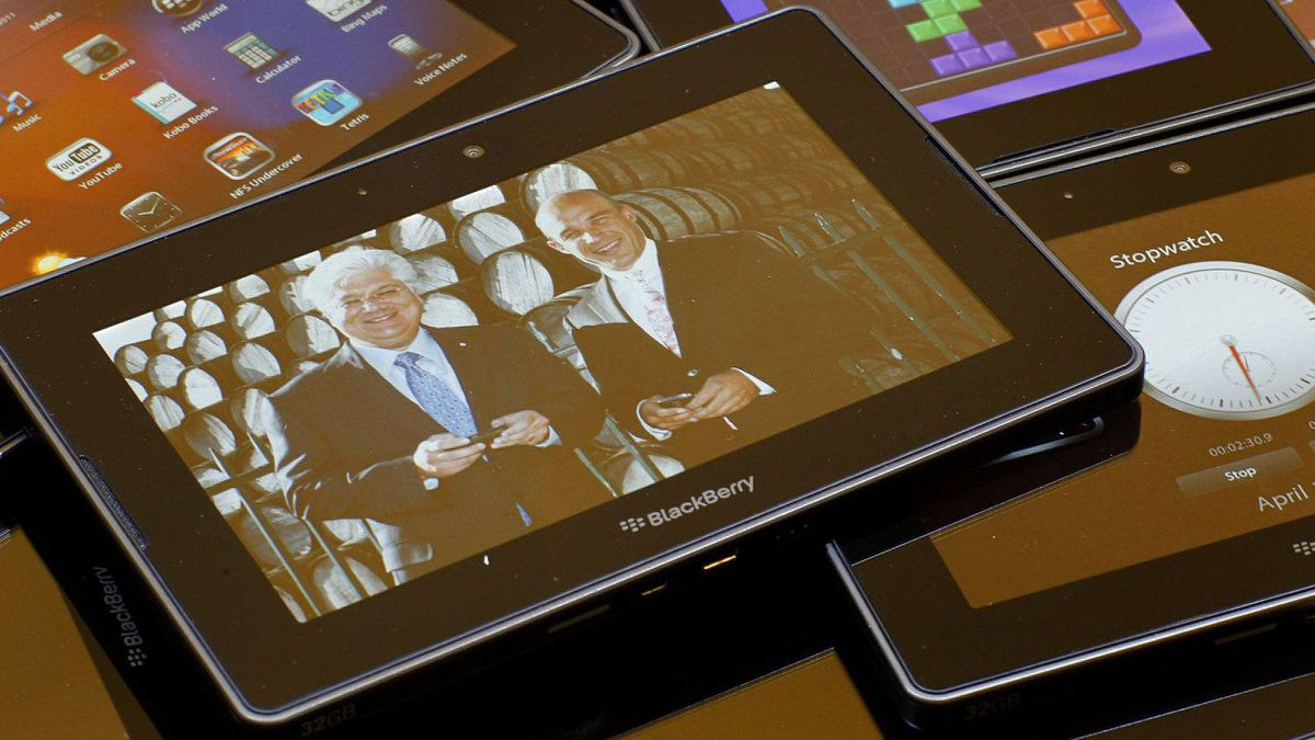 The Blackberry tablet, or Playbook.