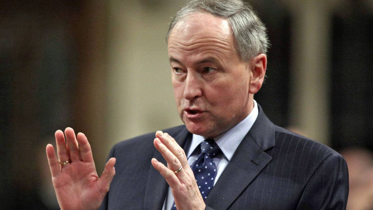 Justice Minister Rob Nicholson speaks during Question Period in the House of Commons on Feb. 13, 2012.