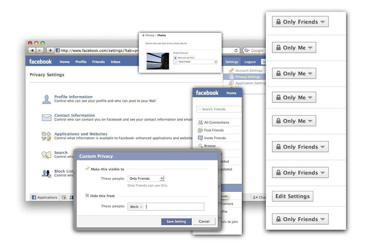 Use the privacy settings on Facebook to restrict access.