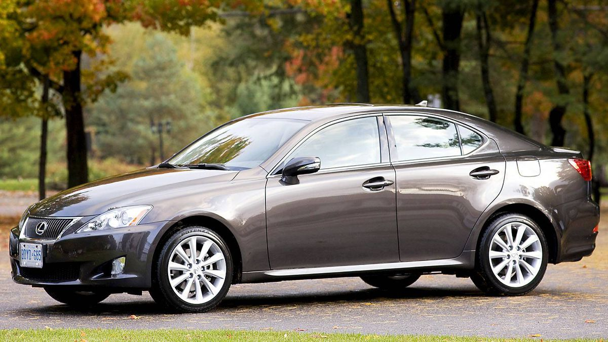 Lexus IS250 ($32,900 base): While on the small side, this Lexus sedan offers some surprises in the ride and handling department.