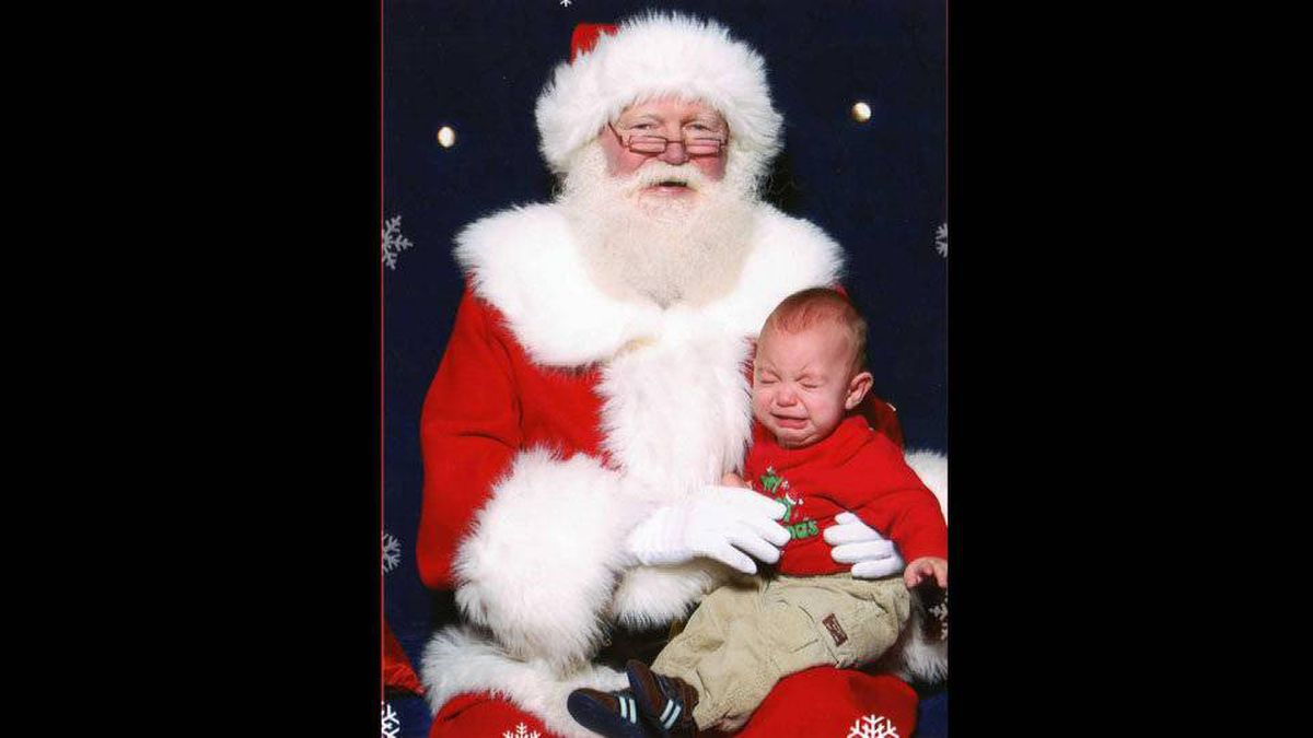 Derek Isber writes: Jeremy loved standing in line, and like pointing to Santa and smiling, but the second Daddy let go we was inconsolable.