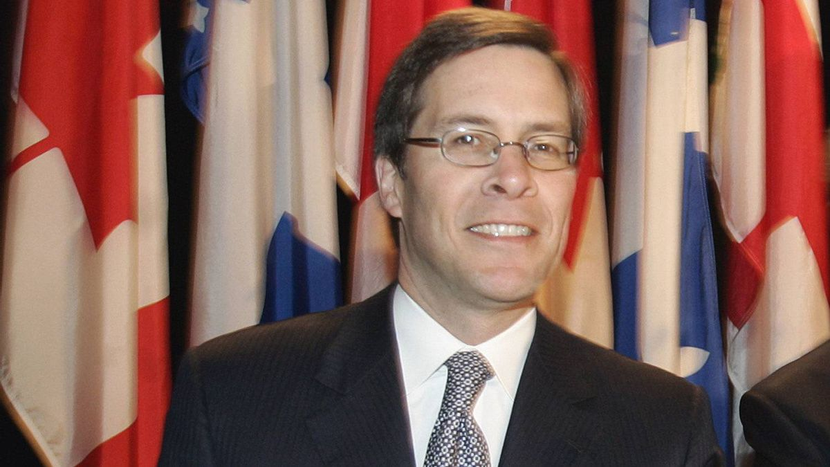 Power Financial Corporation president and CEO Jeffery Orr takes the podium prior to the company's annual meeting in 2007.
