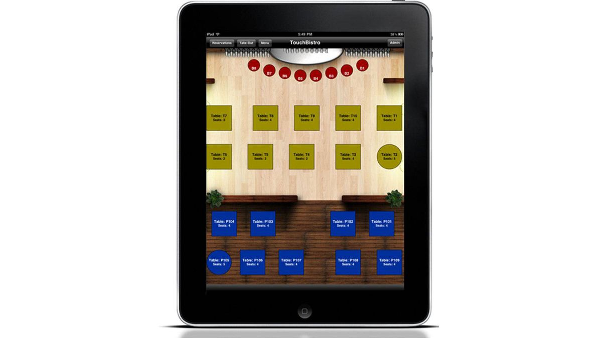 The TouchBistro iPad-based application allows wait staff to show off pictures of the food on offer, send orders to the kitchen and the bar while staying with the customer, and even split the bill by seating with just a swipe of the hand.
