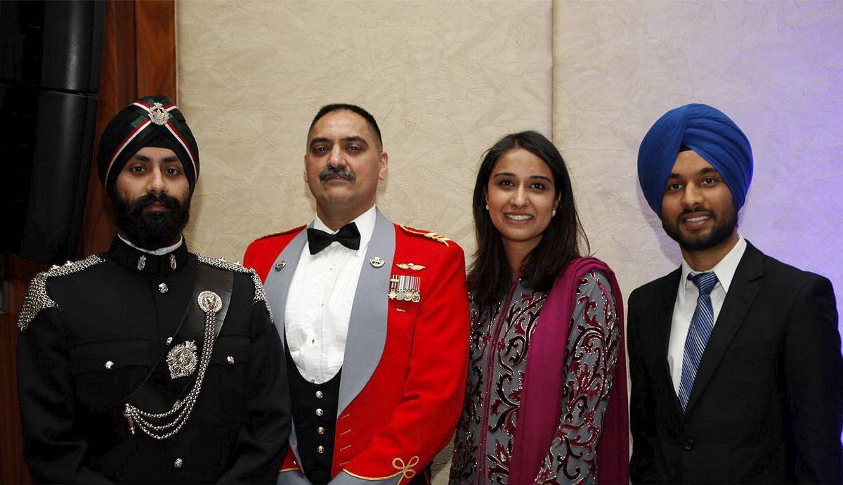Lt Vinning, Maj Mandaher, Puneet Mann, Ivneet Bains