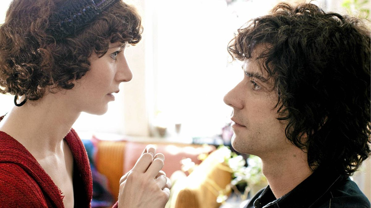 "In this image released by Roadside Attractions, Miranda July portrays Sophie, left, and Hamish Linklater portrays Jason in a scene from ""The Future."""