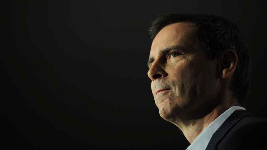 Ontario Premier Dalton McGuinty speaks during a newsconference in Ottawa on Oct. 7, 2011., after the Liberal's minority win in the Ontario provincial election.