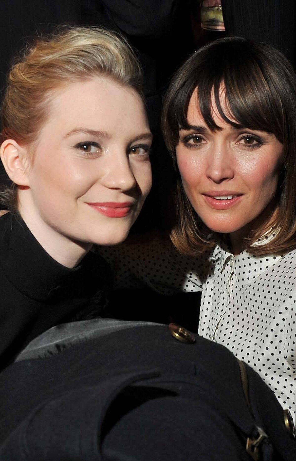 Mia Wasikowska also snuck by Rose Byrne . . .