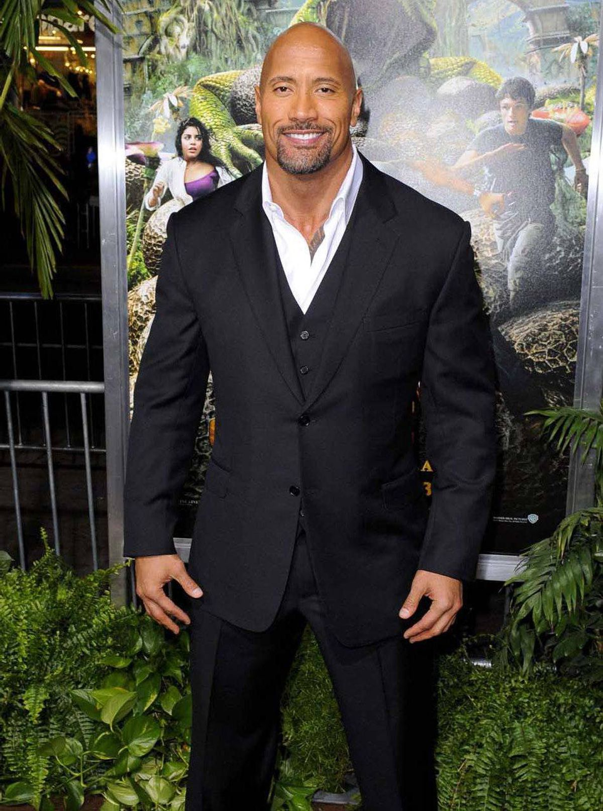 """Dwayne """"The Rock"""" Johnson attends the premiere of """"Journey 2 :The Mysterious Island"""" in Hollywood last week."""