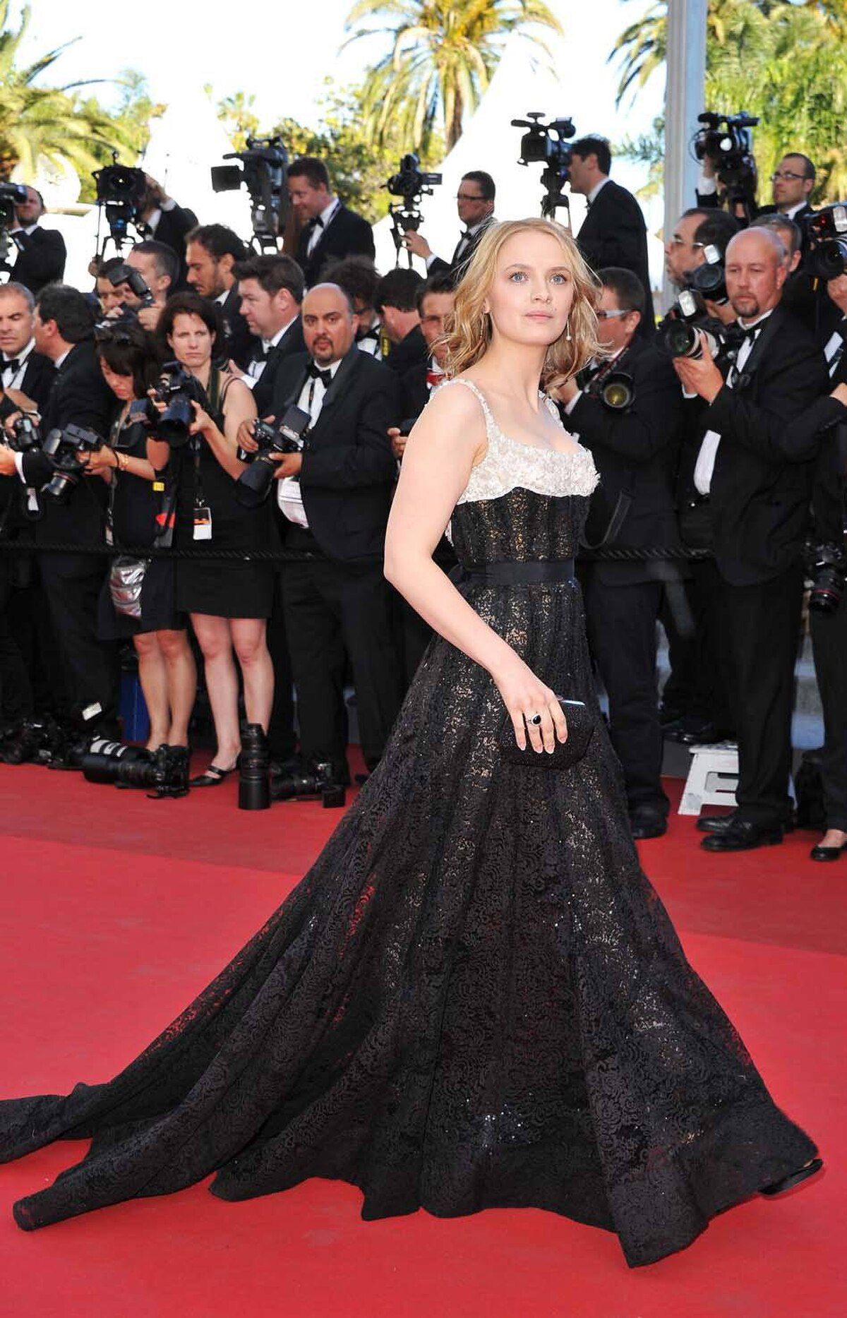 """French actress Sara Forestier at """"The Tree of Life"""" premiere at the Cannes Film Festival on Monday."""