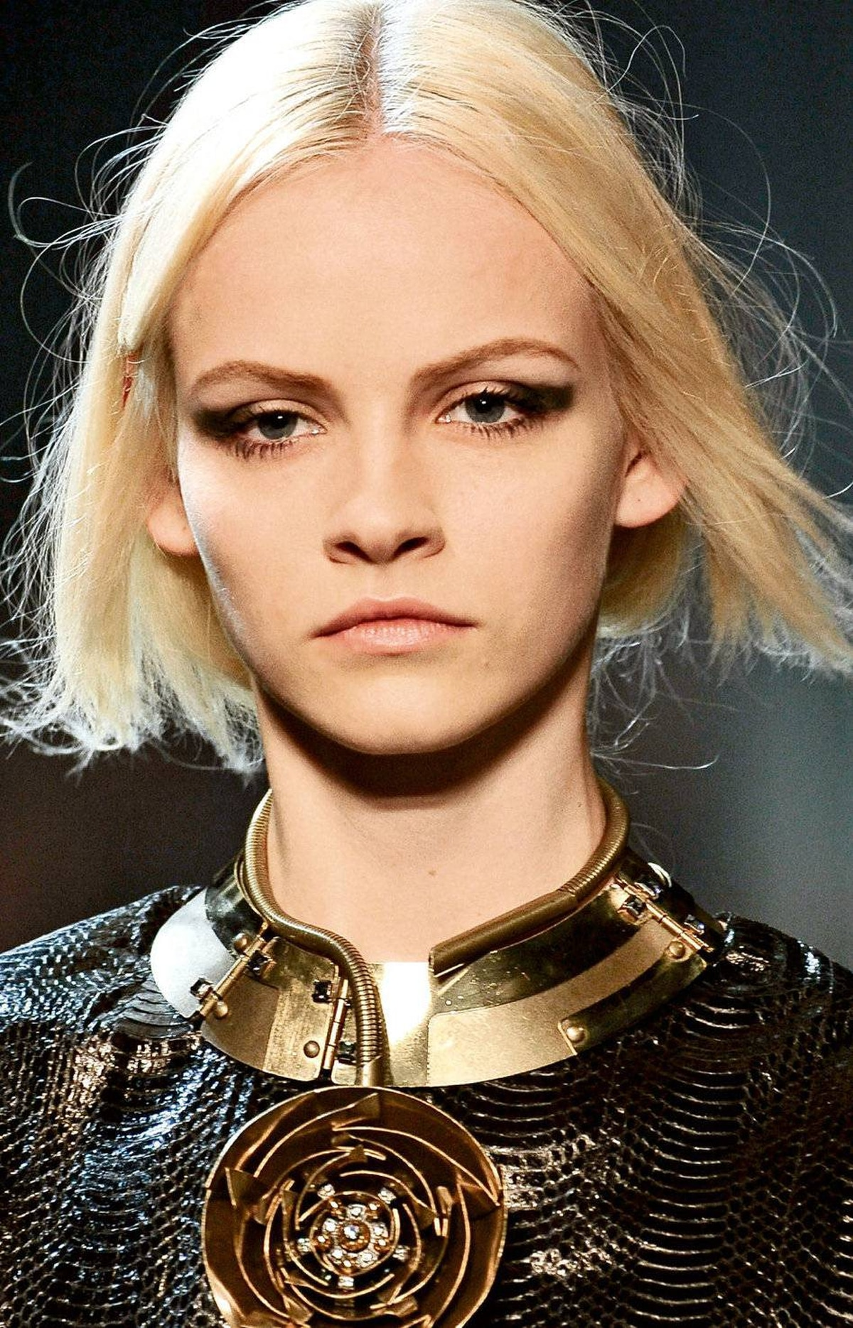Spiky lashes, on the runway