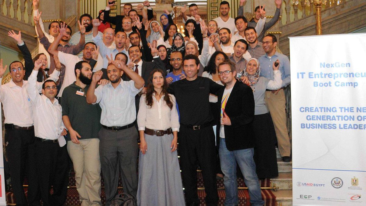 The 38 Egyptians entrepreneurs who participated in the NexGen IT Entrepreneur Boot Camp.