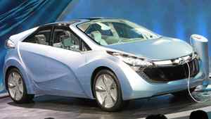 Hyundai debuts the Blue-Will plug-in hybrid concept at the North American International Auto Show in Detroit.