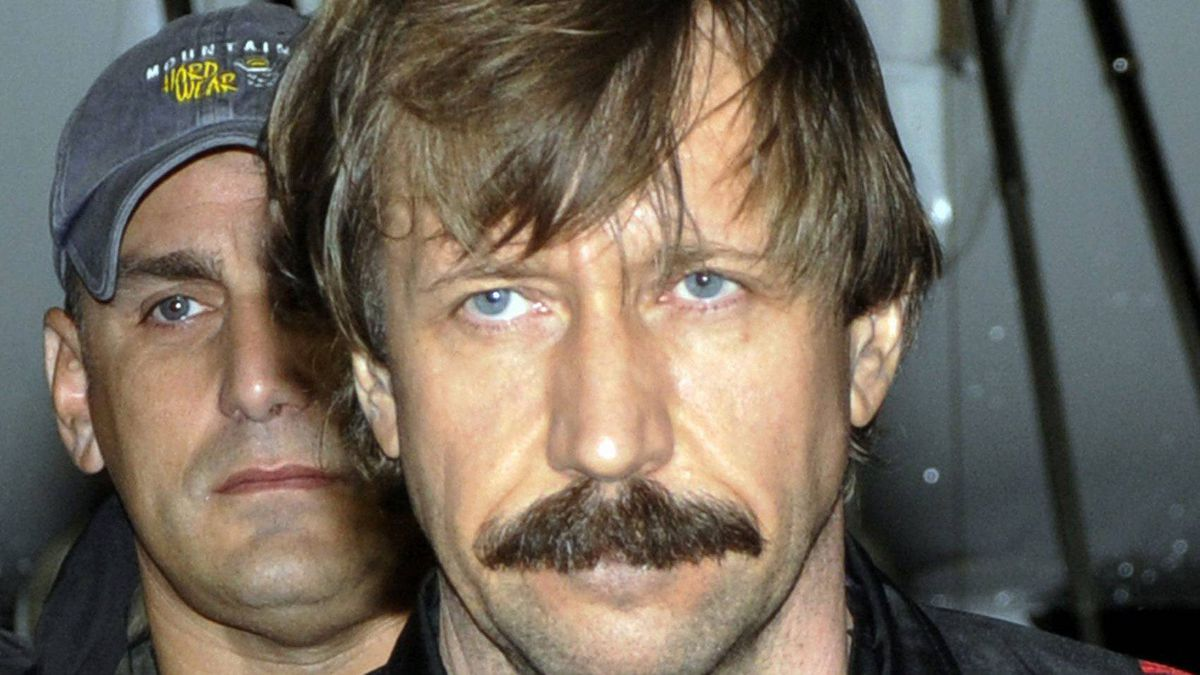 This 2010 file photo provided by the U.S. Drug Enforcement Administration shows Russian arms trafficker Viktor Bout in U.S. custody after being flown from Bangkok to New York.